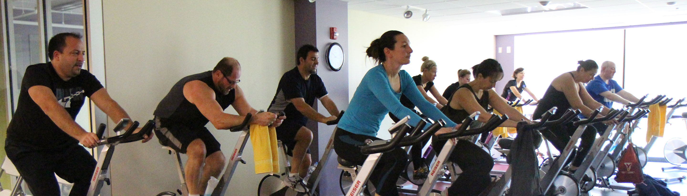 Schaumburg Park District gets funky with 60's themed cycling class!