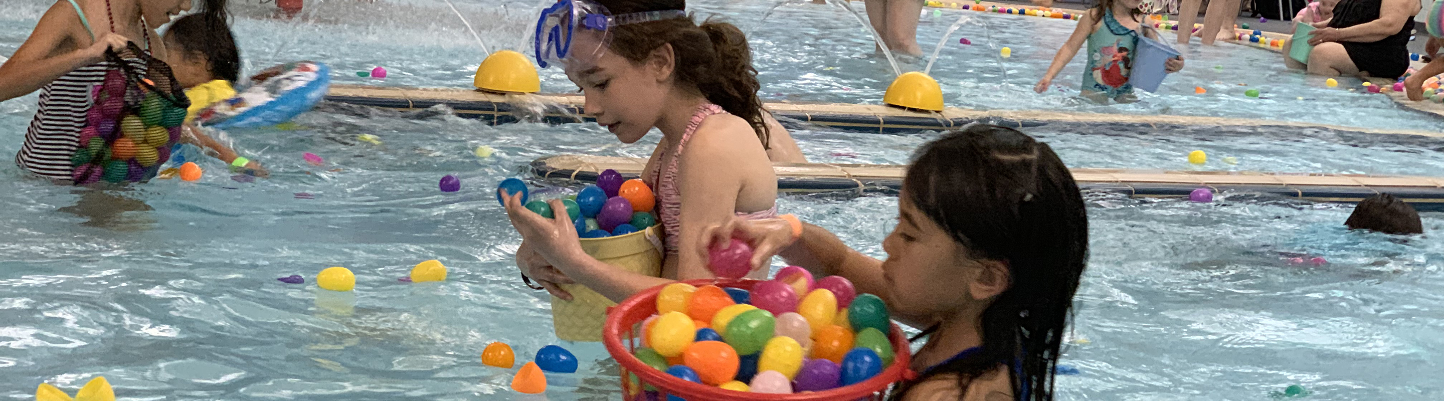 Hop into the pool at Underwater EGGstravaganza