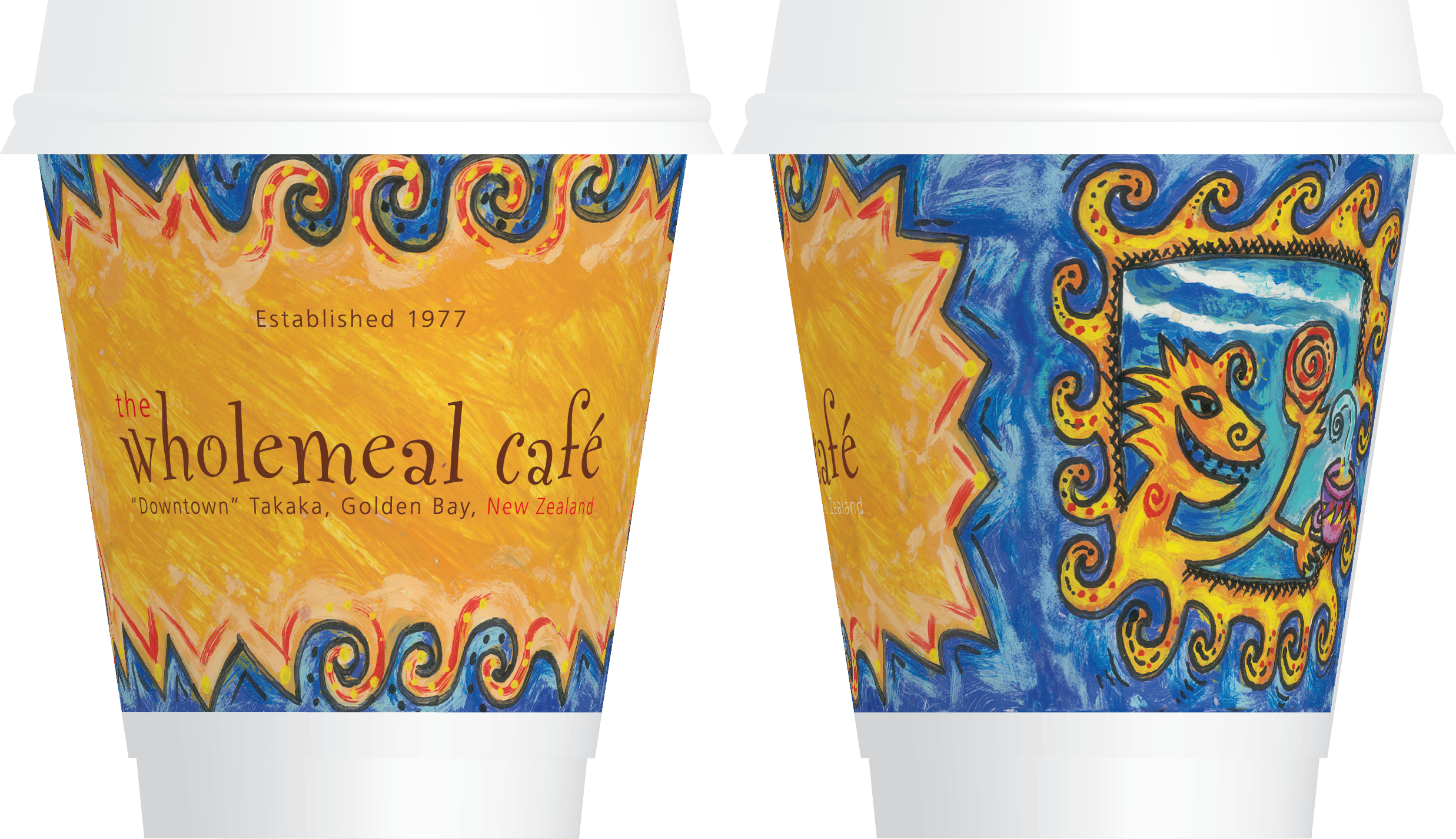 The Wholemeal Café Coffee Cups