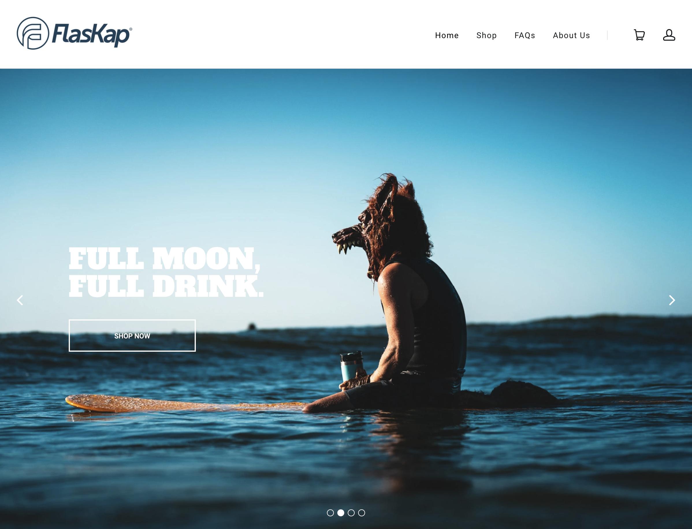 FlasKap Shopify Site