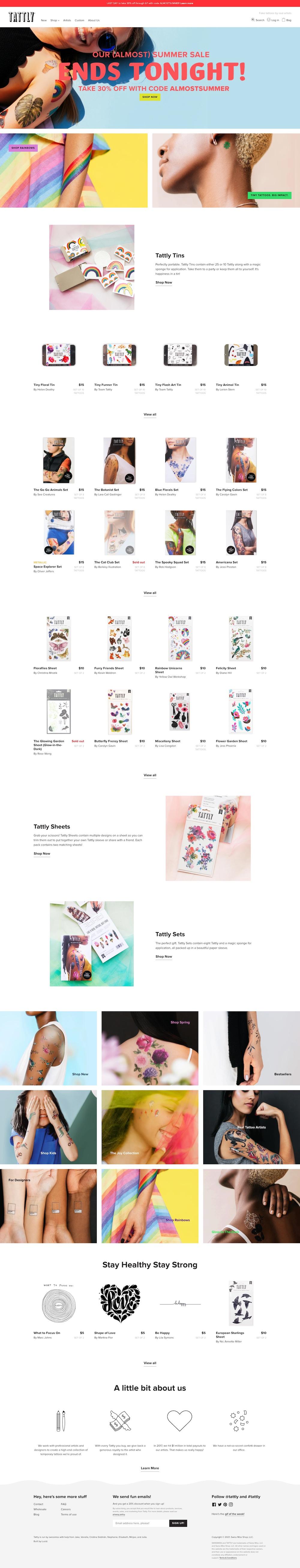 Tattly Shopify Website Rebuild