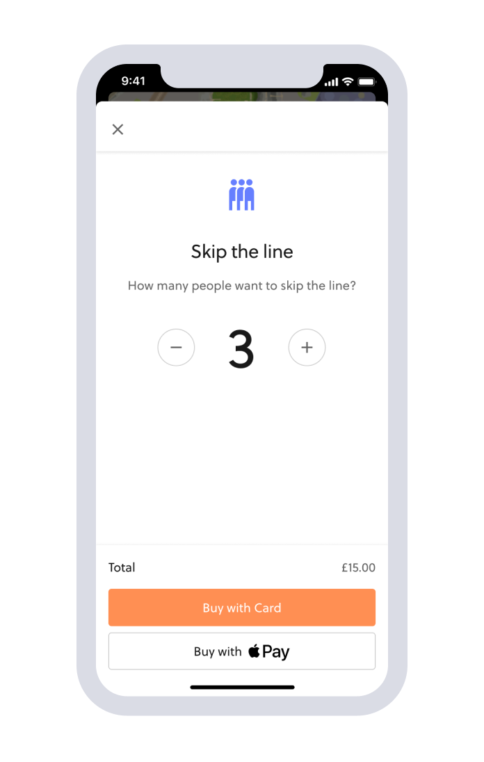 virtual queue ticket upgrade
