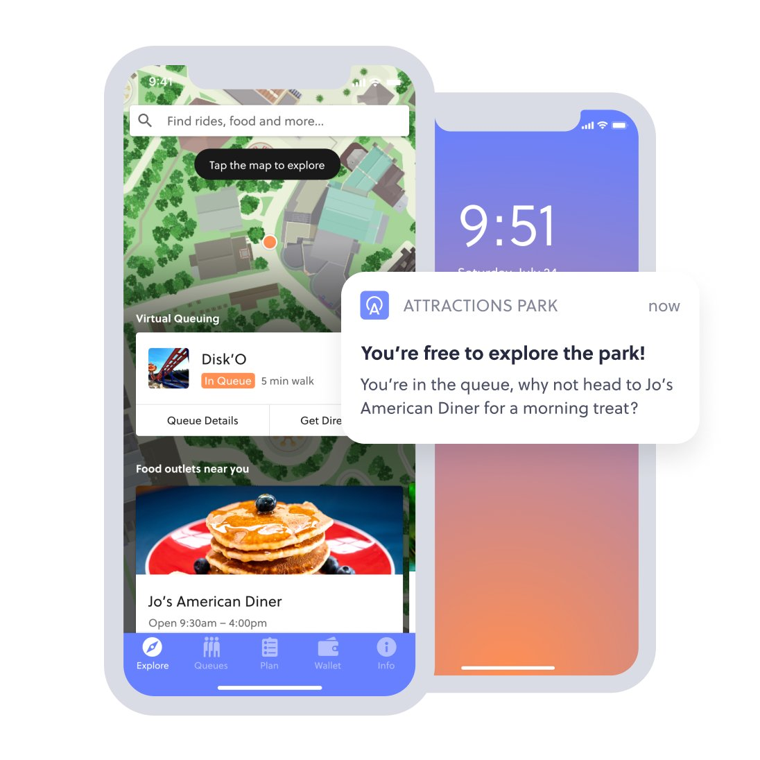 in app features and notifications