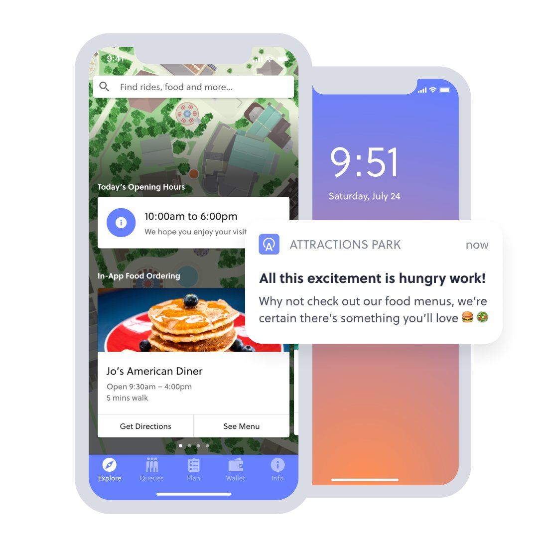 in app food ordering and notification