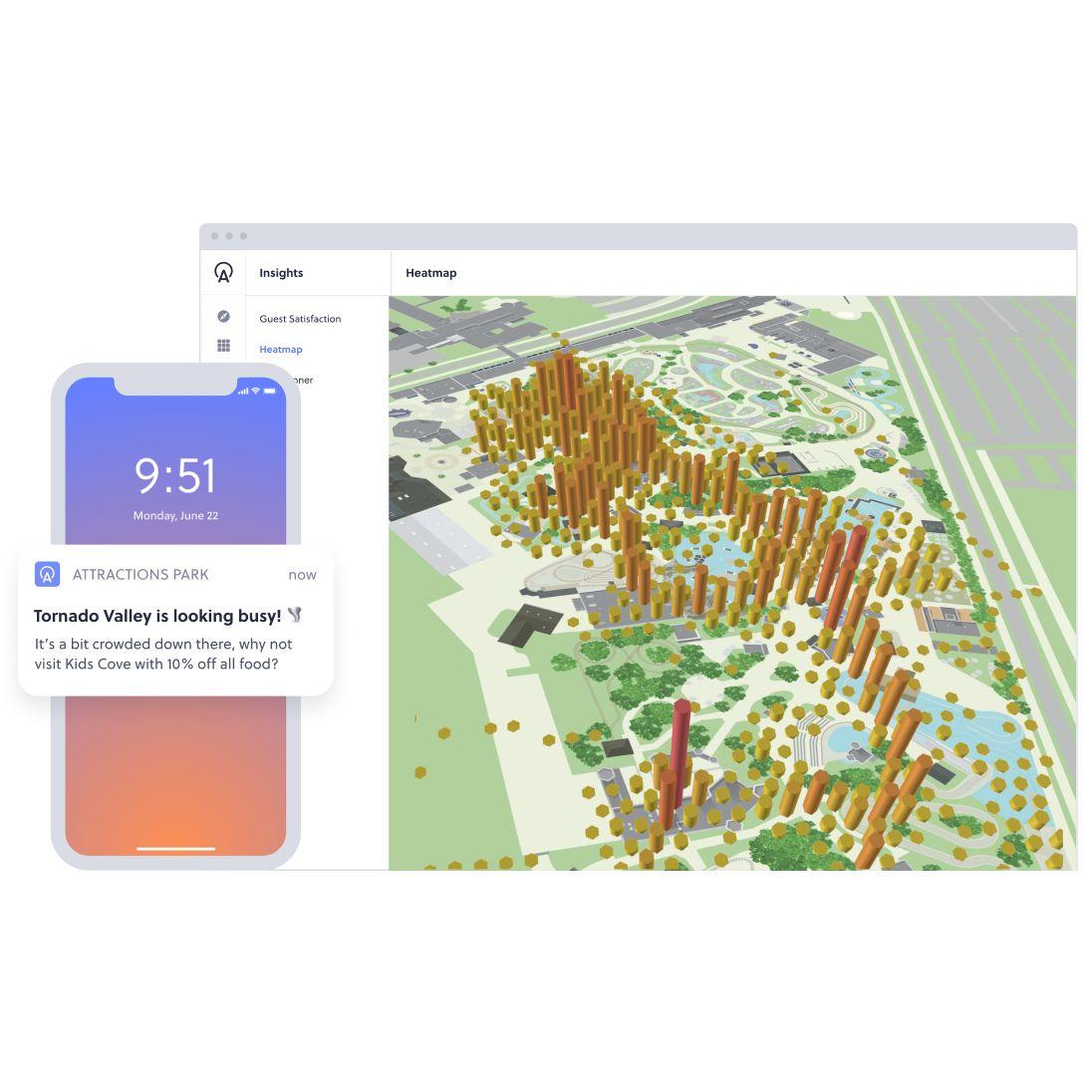 heat map platform to aid message choice