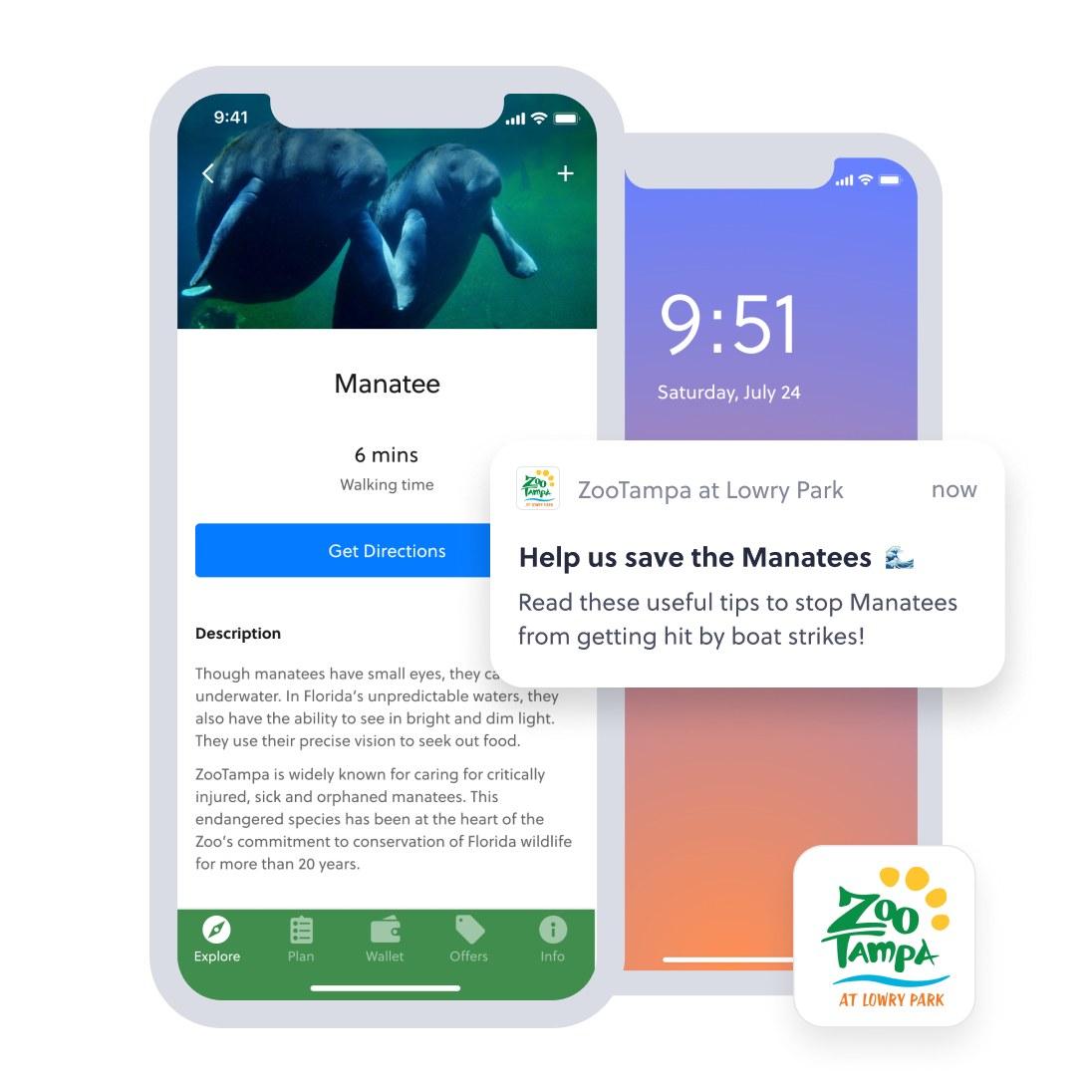 ZooTampa sending boating tips via notifications