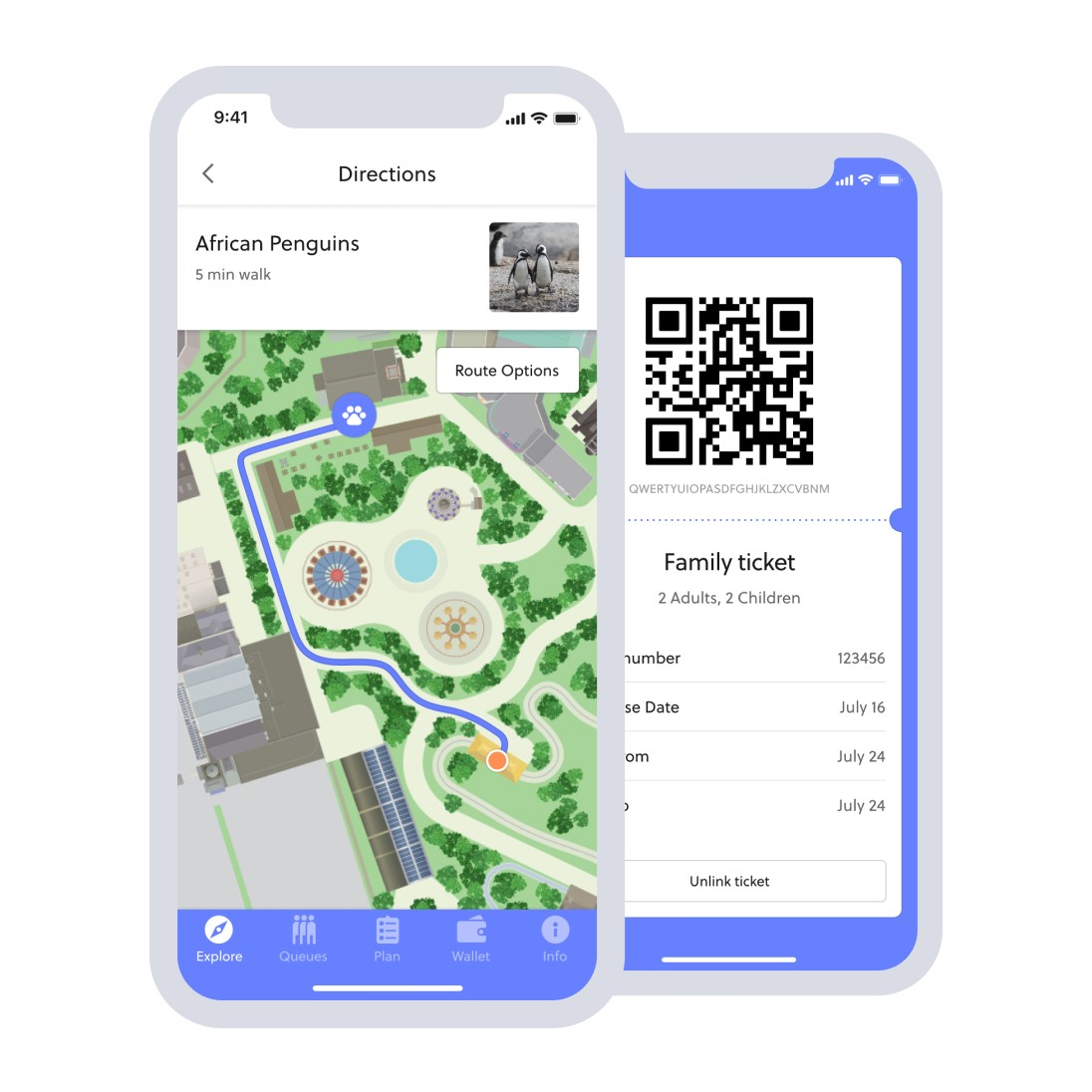 Interactive wayfinding and in-app ticketing