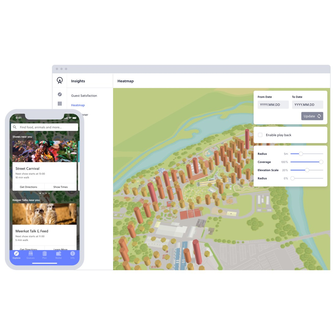 interactive heatmap and screen