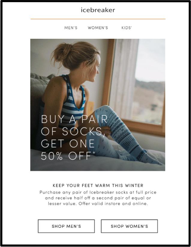 Icebreaker promotion email