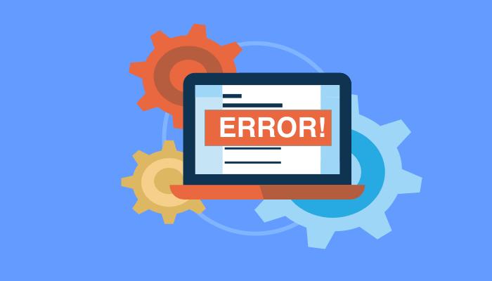 Graphic of error on computer screen