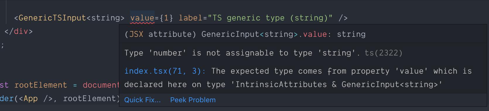 TypeScript error for generics