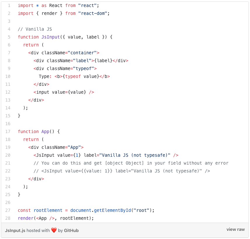Vanilla JavaScript input