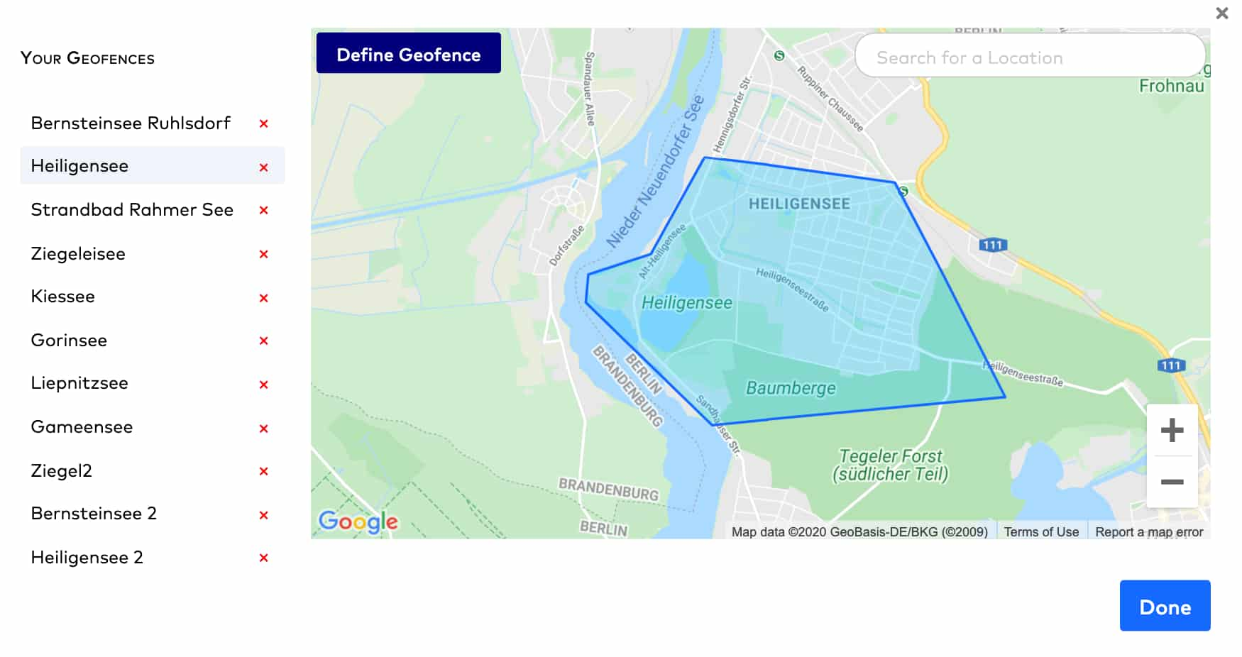 geofencing feature with Talon.One