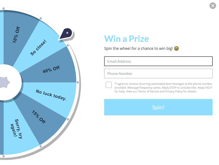 SendAFriend Spin The Wheel