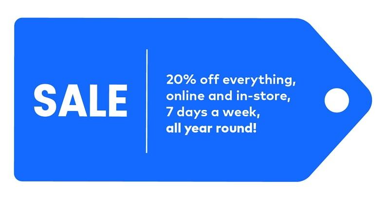 Continuous discount label