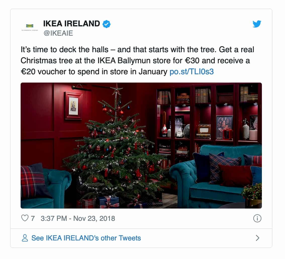 IKEA Ireland Christmas promotions