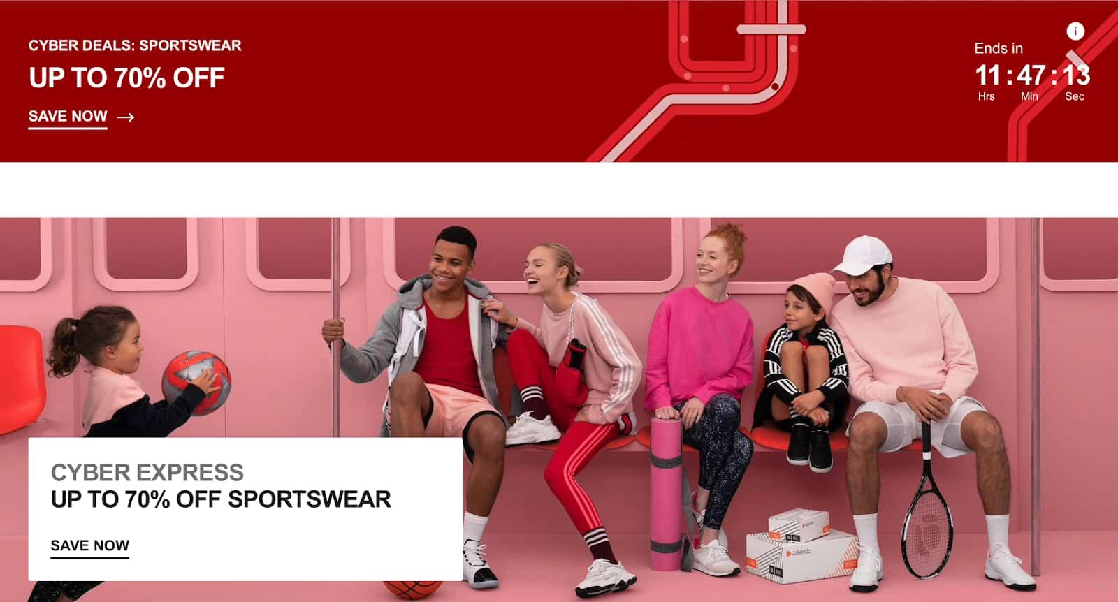 Cyber deals for sportwear