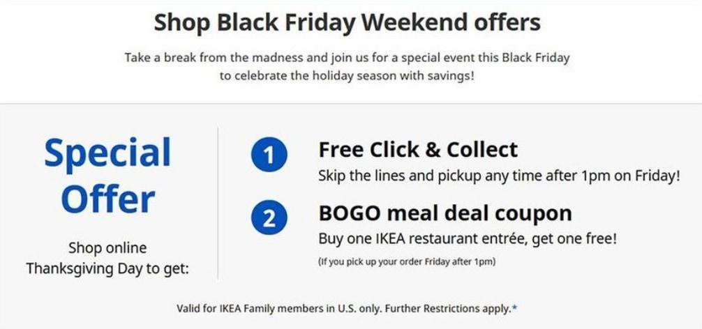 IKEA Back Friday deals