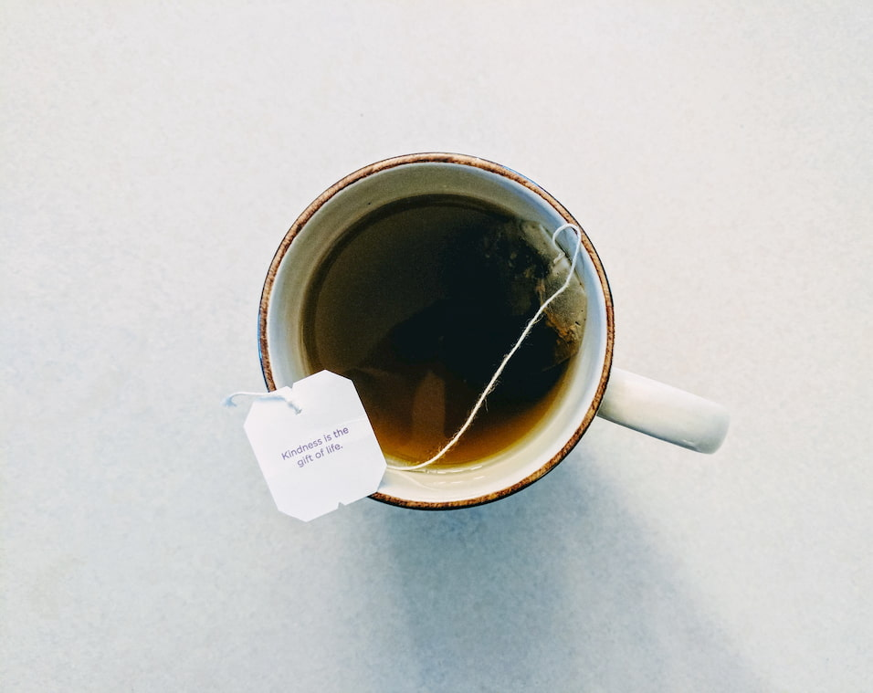 A cup of tea with an inspiring message