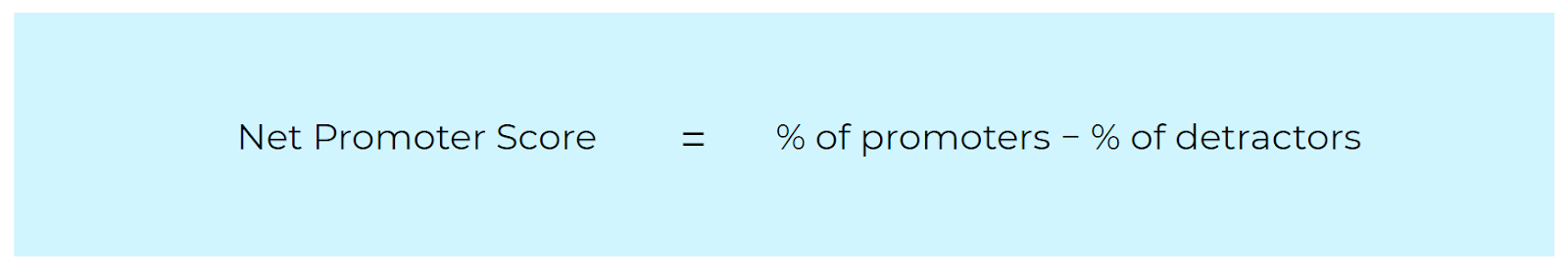 Equation to calculate NPS