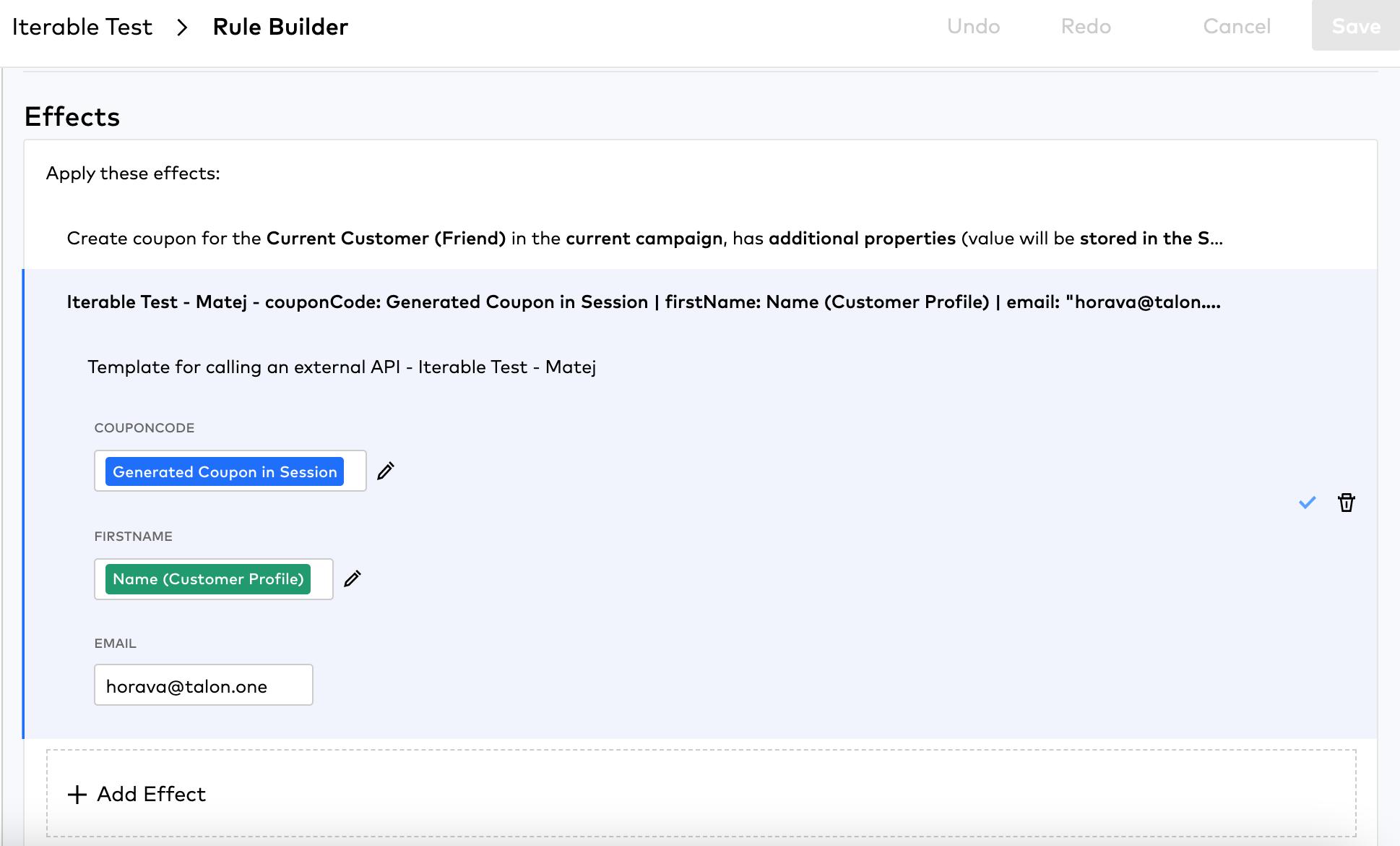 Iterable User Interface Analytics