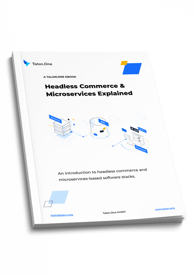 Cover images for ebook on headless commerce & microservices
