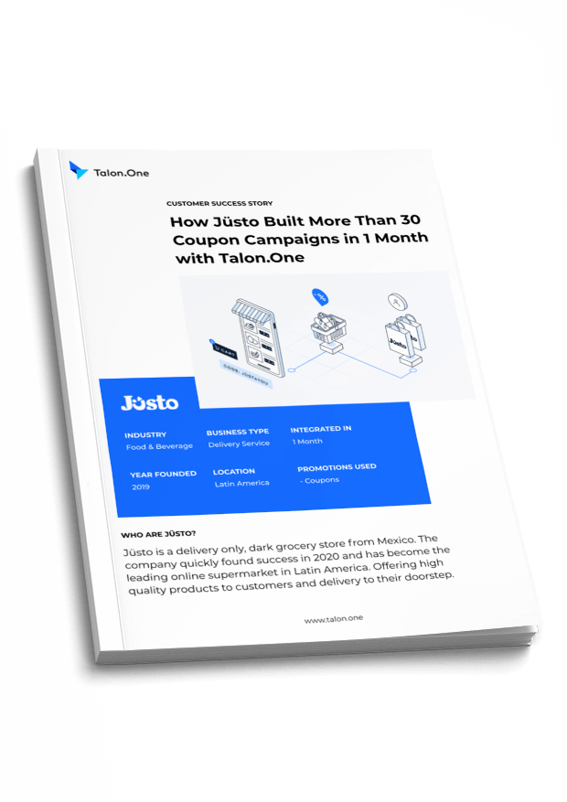 A case study covering Talon.One's coupon campaigns with Jüsto