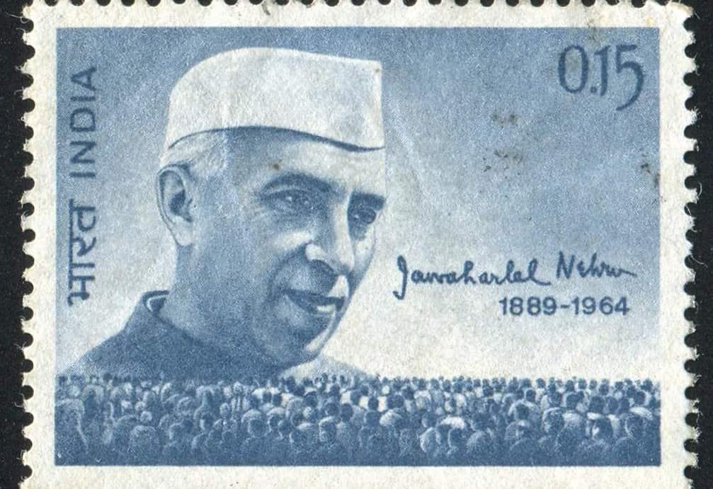 Postage stamp commemorating Jawarharlal Nehru