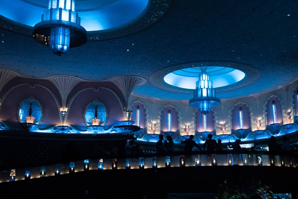 Monuments around the world are illuminated blue as part of UNICEF's Go Blue campaign