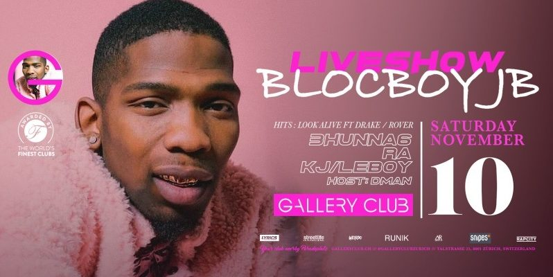 BlocBoy JB: Liveshow im Gallery Club