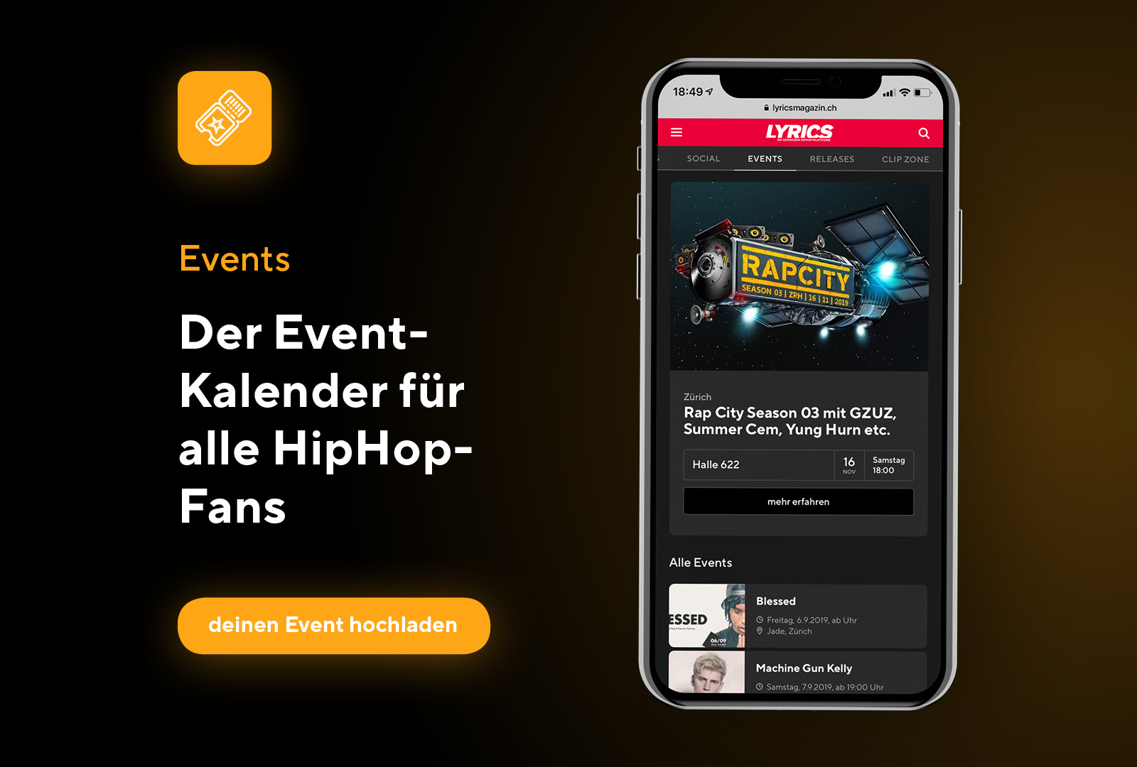 Nightlife- und Konzerttipps in der Event-Zone