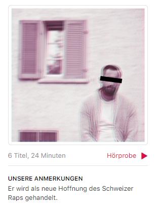 Xen – «Dämone EP»: Wer Xen 2017 noch als «neue Hoffnung des Schweizer Raps» bezeichnet, hat wahrscheinlich Xanax-bedingt die letzten Paar Jahre verpennt. Mit «Ich gäge mich» rasierte Xen schon 2015 das Game, 2017 gehörte er bereits zur unangefochtenen Elite im CH-Rap.