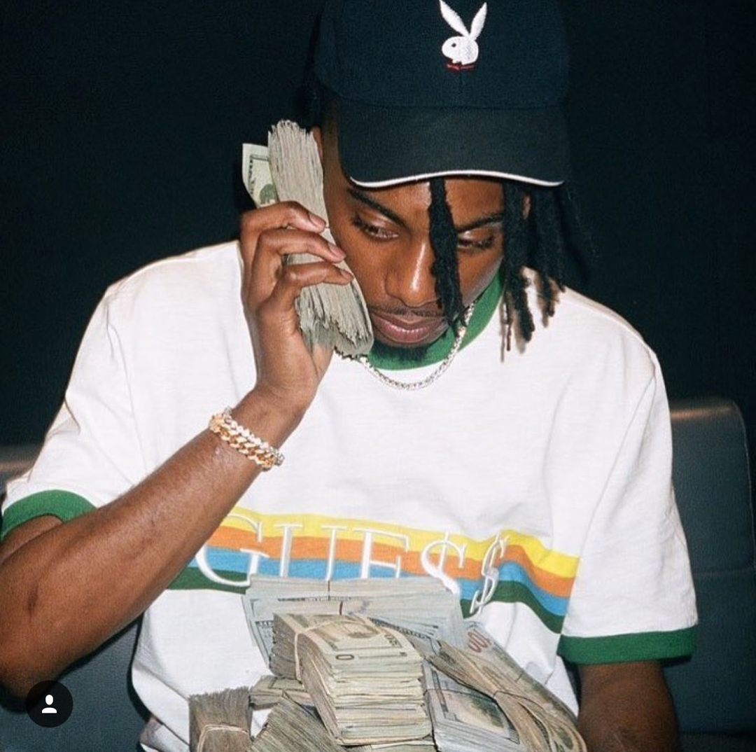 Playboi Carti im A$AP Rocky x Guess-Shirt