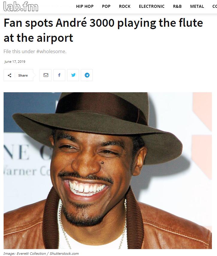 Was André 3000 macht, anstatt sein Debütalbum zu droppen.