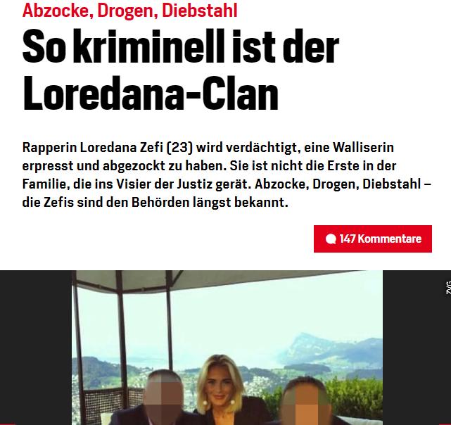 Der wohl grösste Skandal in der CH-Rap-Geschichte: Die Anzeigen gegen Loredana