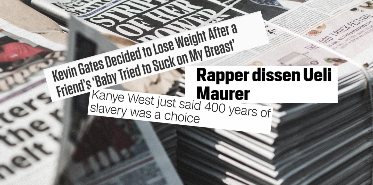 Die skurrilsten Schlagzeilen von Rappern