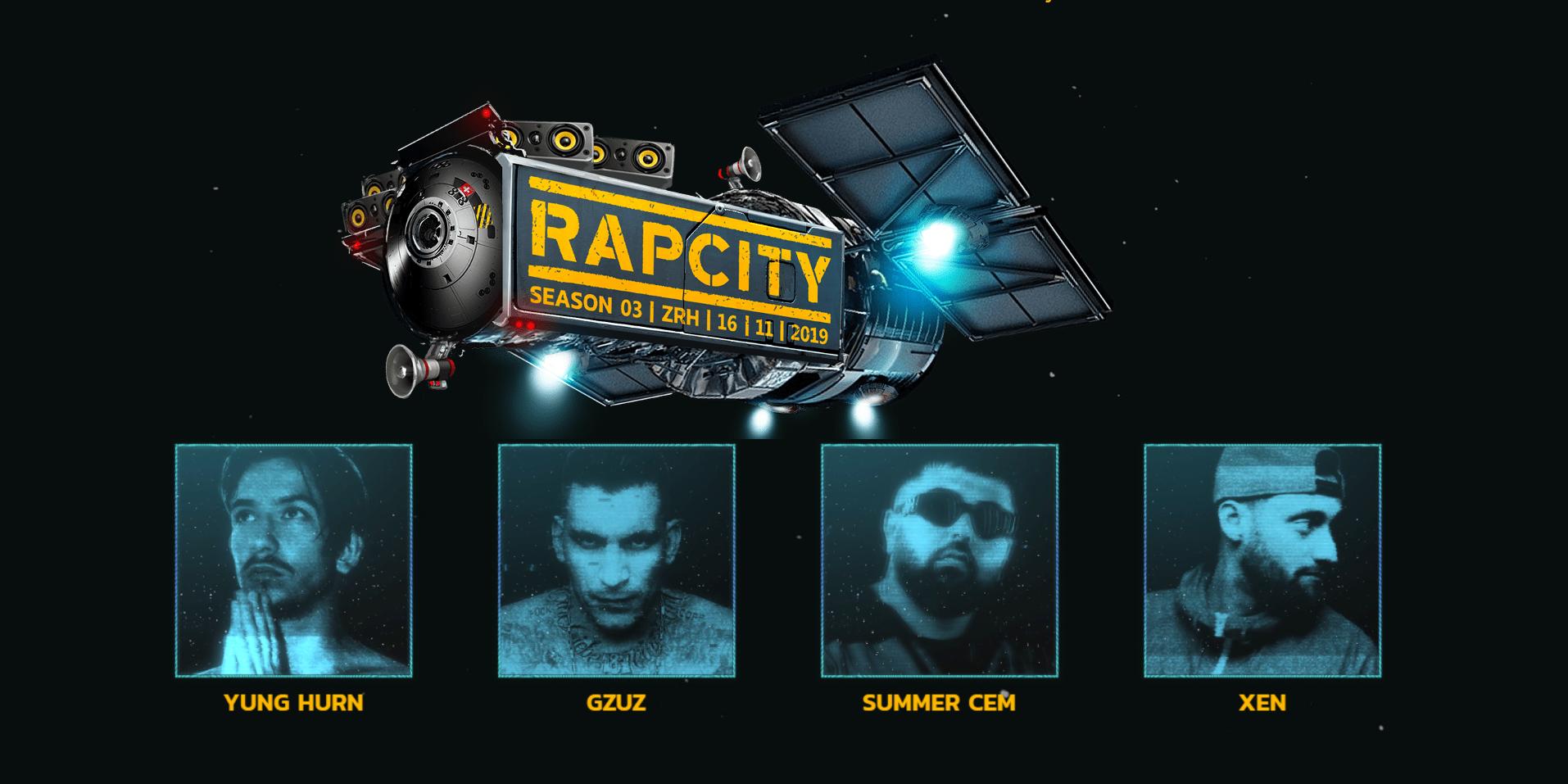 GZUZ, Yung Hurn, Pronto, Xen uvm. in Zürich: Die Tickets für Rap City Season 03 werden langsam knapp