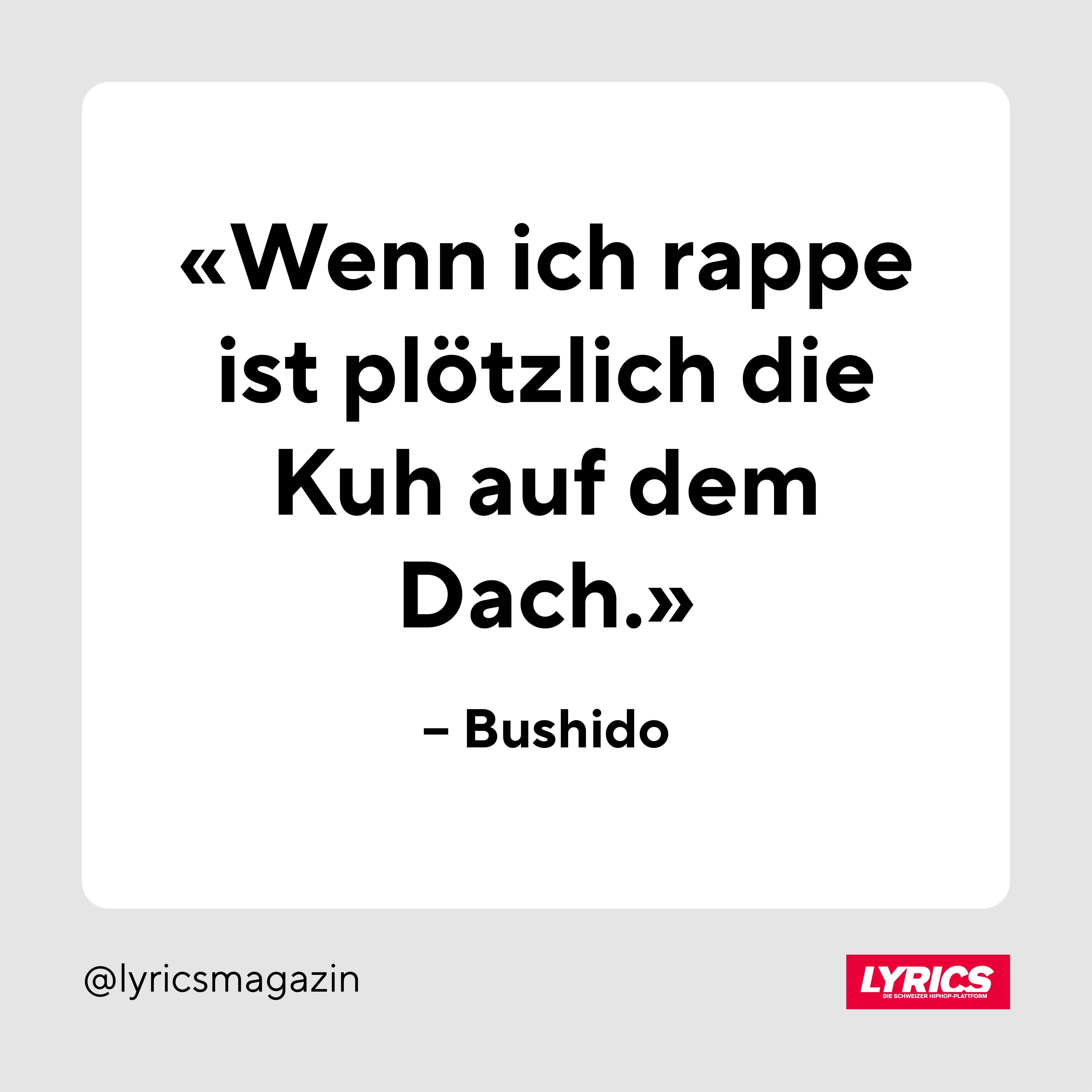 Bushido, Meister der Metaphorik