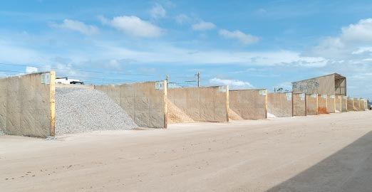 Range of sands and building materials