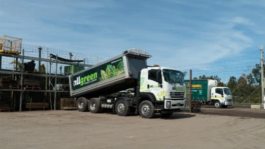 garden edging delivery truck