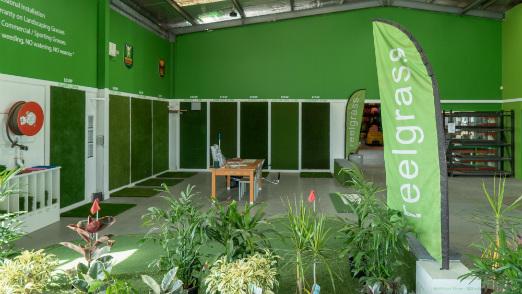synthetic turf showroom
