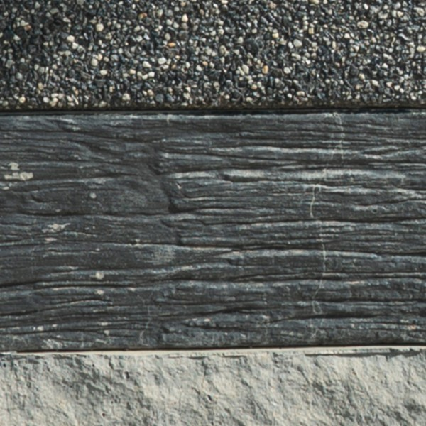 [Concrete Sleepers] Timber Grain Charcoal Black (Sealed)