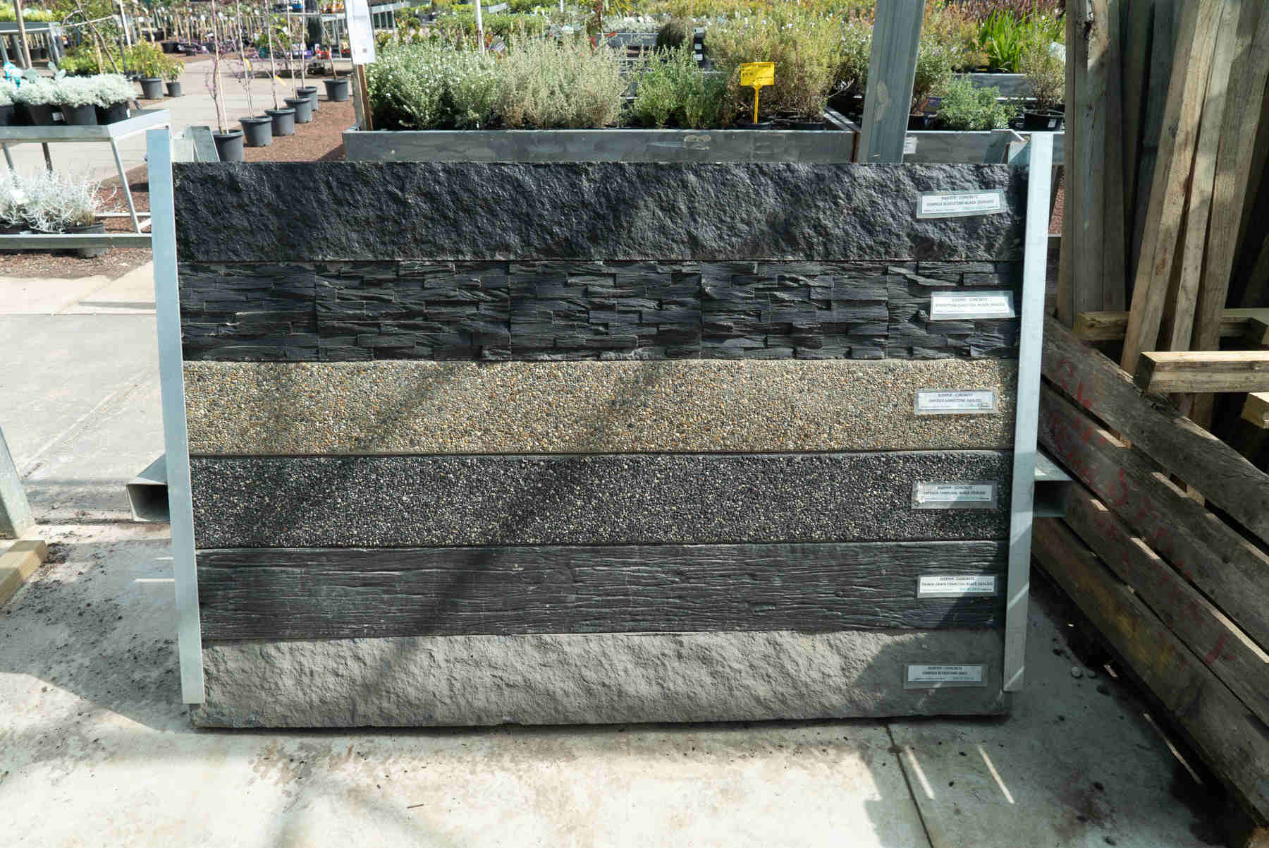 concrete sleeper display