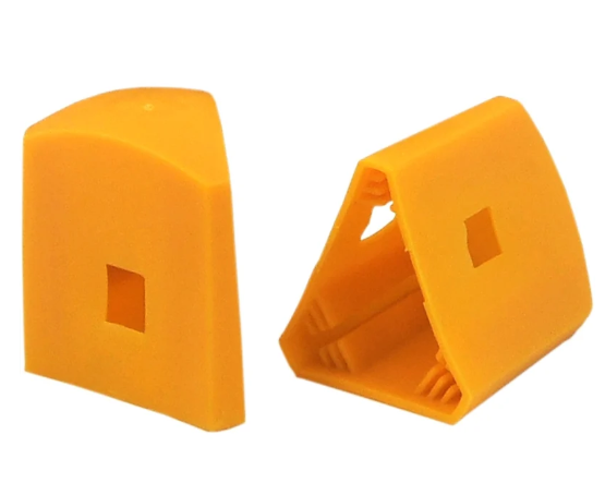 [Posts, Stakes & Supports] Star Post Bar Guard End Caps Yellow