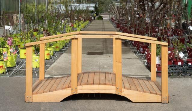 Display gardens with bridge