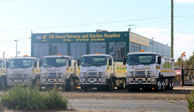 trucks ready to deliver roses