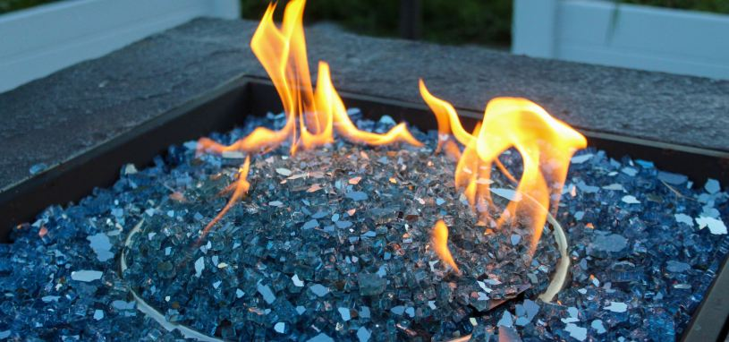glass in fire pit
