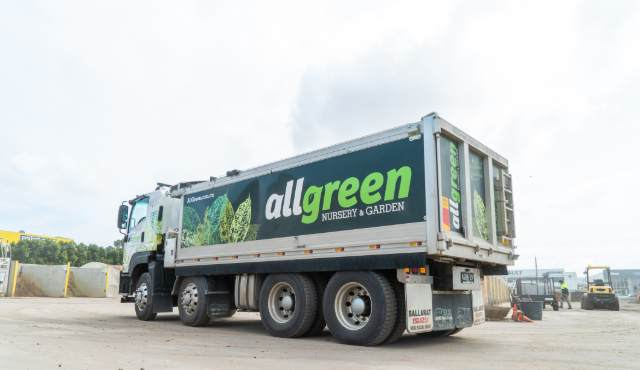 All Green truck delivery