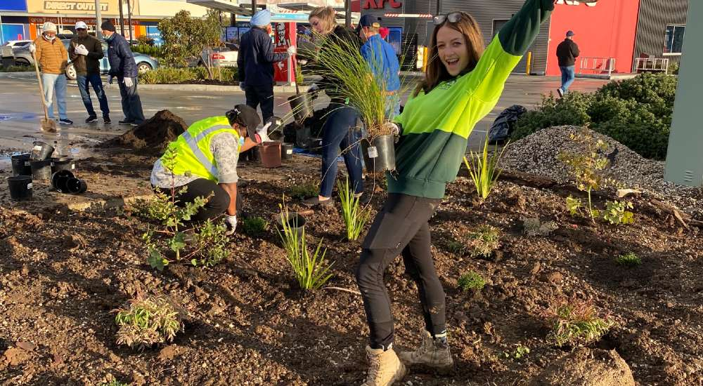 All Green teams up with Telstra to plant a new community garden of native Australian plants