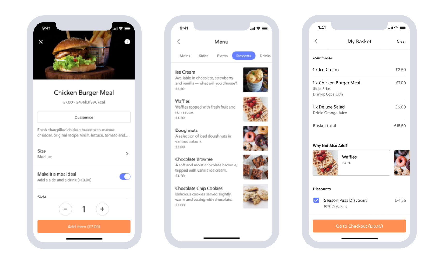mobile food ordering - theme park